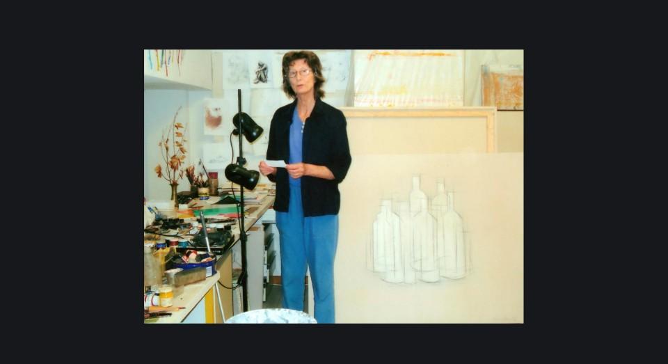 Annabel en su taller actual en San Lorenzo de El Escorial