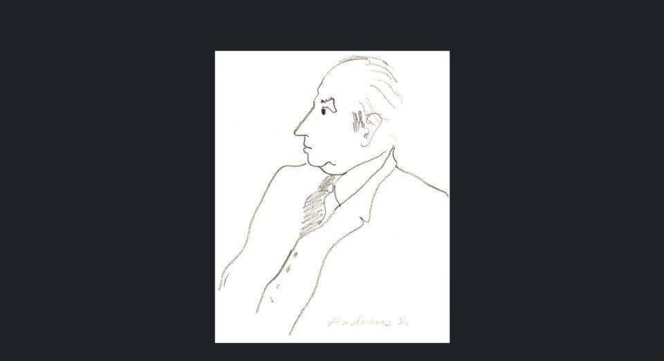Hombre - carboncillo sobre cartulina (1980)