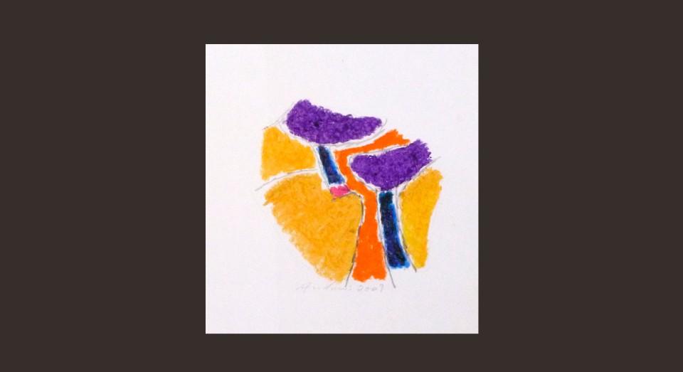 Forma y Color 4 (2009) Ceras sobre papel, Serie CERAS