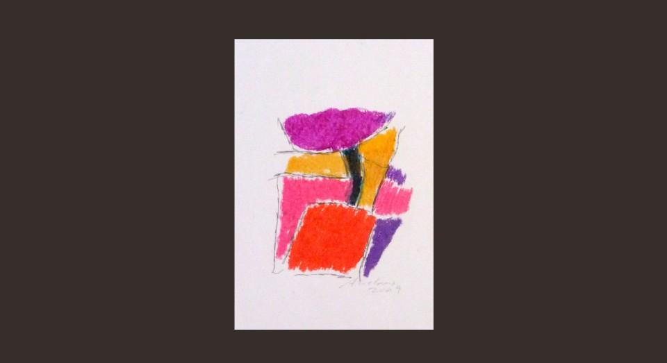 Forma y Color 7 (2009) Ceras sobre papel. Serie CERAS