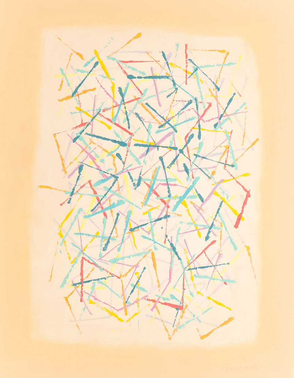 Trazos  (2012)  116 x 89 cm.