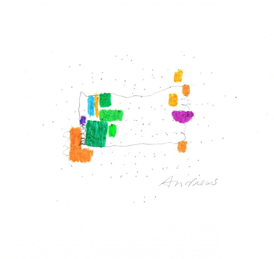Jazz 3 - dibujos (2001) 20 x 20 cm. Serie JAZZ (Ceras y Lápiz)