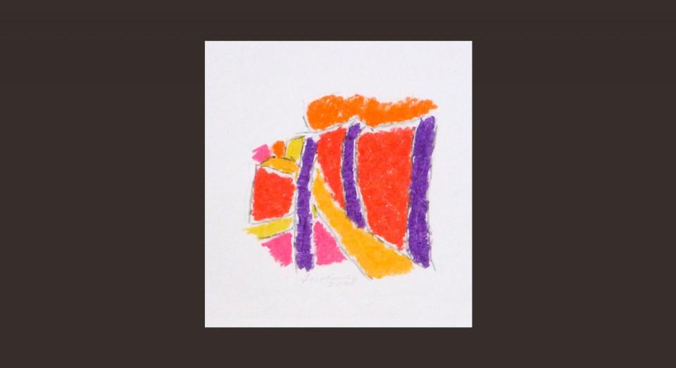 Forma y Color 1 (2008) Ceras sobre papel Serie CERAS