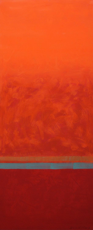 Cuadro 2 (2006) Acrílico sobre tela, (188 x 73 cm.) Serie INFINITIES