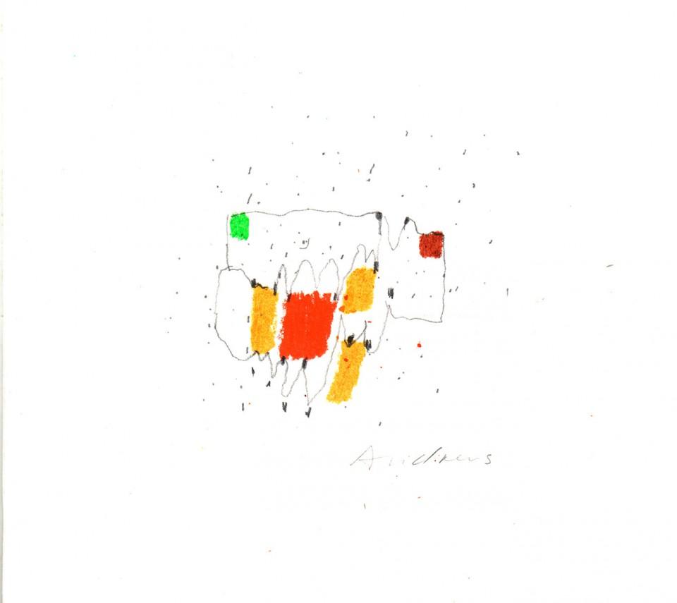Jazz 4 - dibujos (2001) 20 x 20 cm. Serie JAZZ (Ceras y Lápiz)
