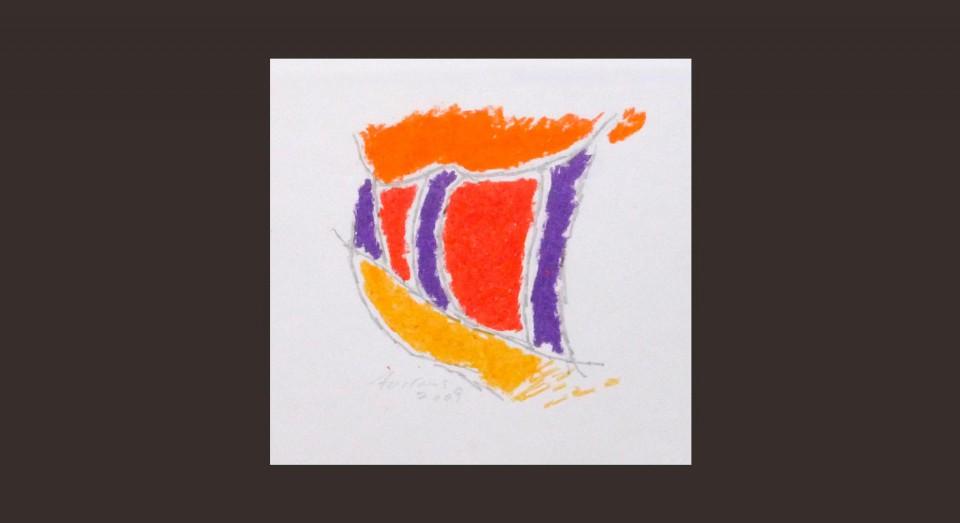 Forma y Color 6 (2009) Ceras sobre papel. Serie CERAS