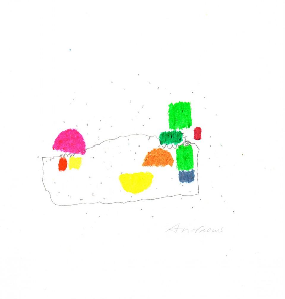 Jazz 5 - dibujos (2001) 20 x 20 cm. Serie JAZZ (Ceras y Lápiz)