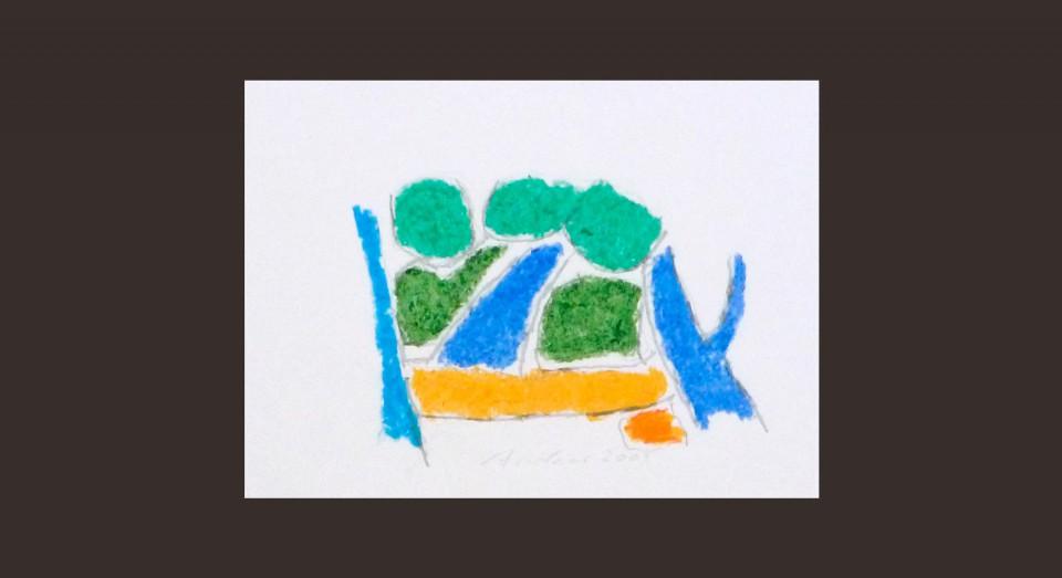 Forma y Color 2 (2008) Ceras sobre papel Serie CERAS