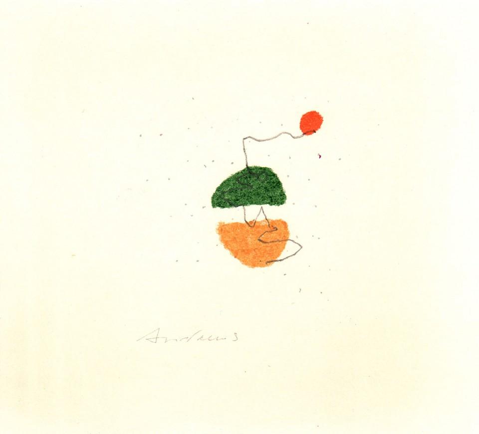 Jazz 16 - dibujos (2001) 20 x 20 cm. Serie JAZZ (Ceras y Lápiz sobre cartón)