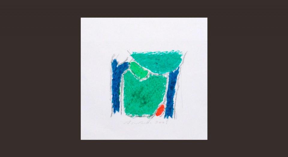 Forma y Color 3 (2008) Ceras sobre papel. Serie CERAS