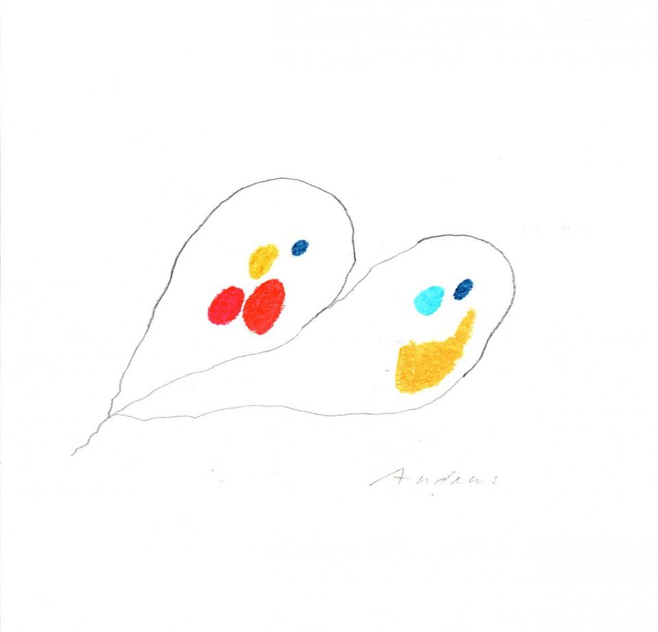 Jazz 6 - dibujos (2001) 20 x 20 cm. Serie JAZZ (Ceras y Lápiz)