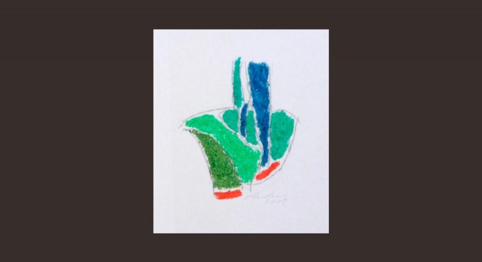 Forma y Color 5 (2009) Ceras sobre papel. Serie CERAS