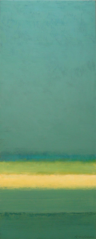 Cuadro 5 (2006) Acrílico sobre tela, (188 x 73 cm.) Serie INFINITIES