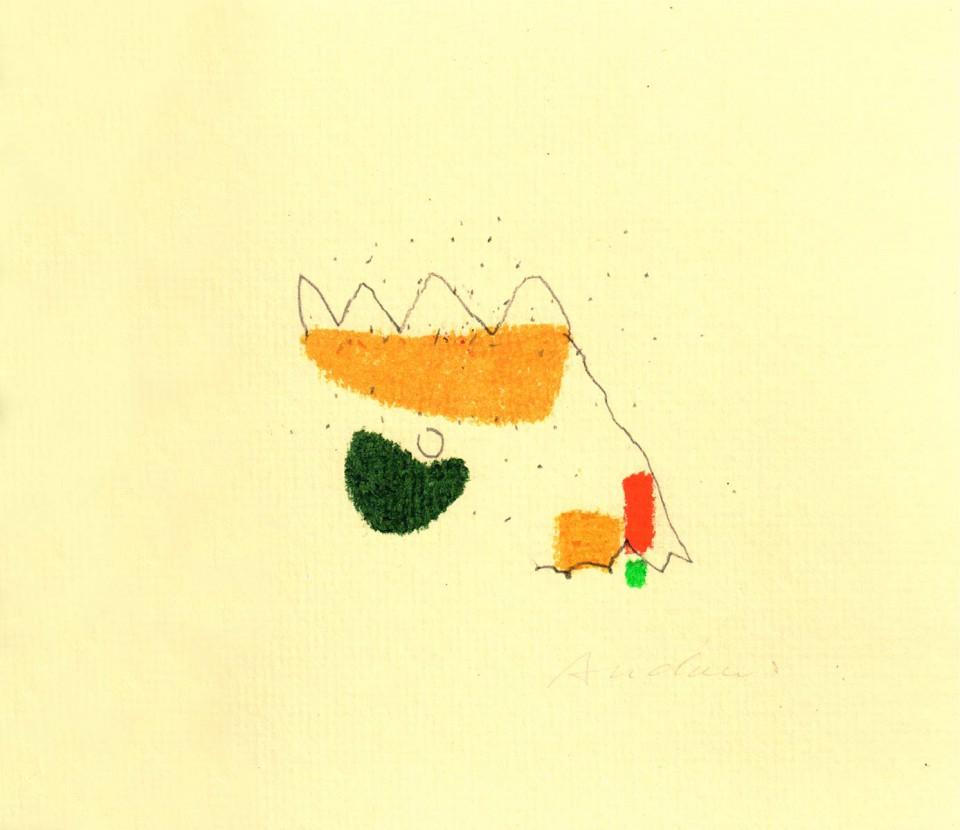 Jazz 17 - dibujos (2001) 20 x 20 cm. Serie JAZZ (Ceras y Lápiz sobre cartón)