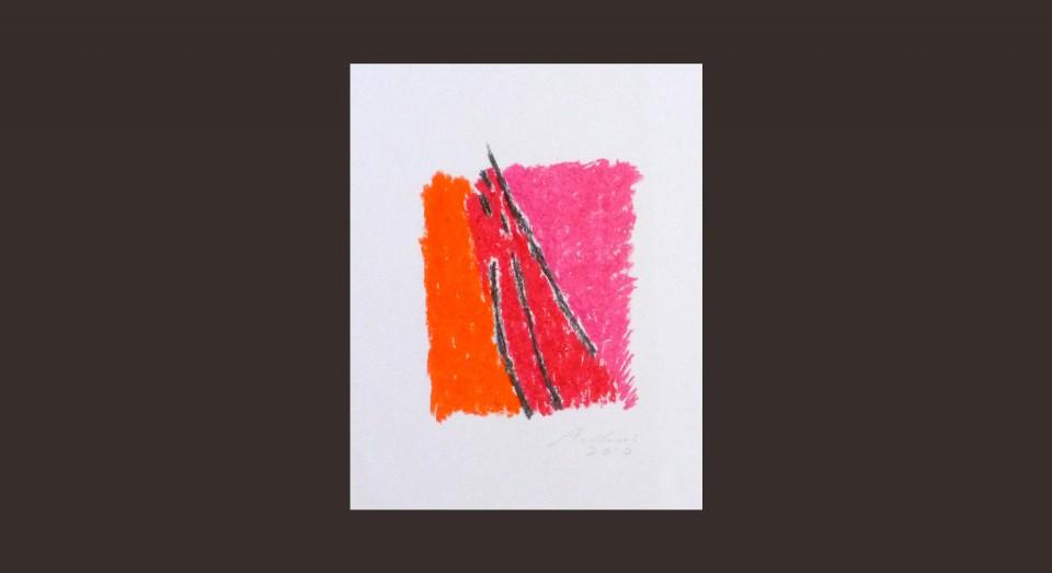 Forma y Color 8 (2010) Ceras sobre papel. Serie CERAS
