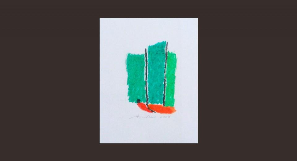 Forma y Color 9 (2010) Ceras sobre papel. Serie CERAS