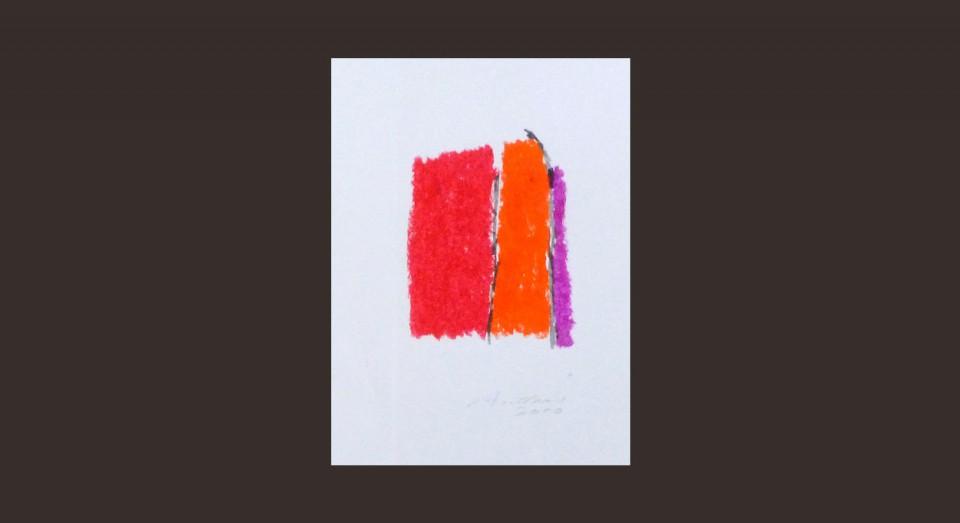 Forma y Color 10 (2010) Ceras sobre papel. Serie CERAS
