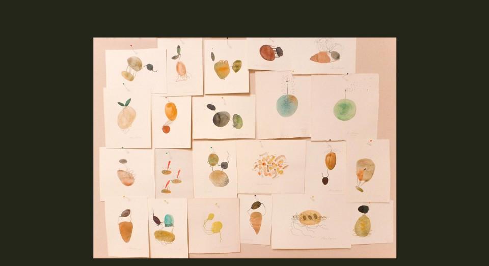 El mar - acuarelas varias 1 - (2002) Serie EL MAR Acuarela, Gouache y lápiz sobre papel.