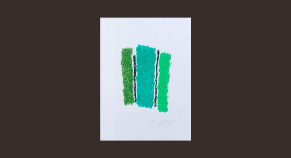 Forma y Color 11 (2010) Ceras sobre papel. Serie CERAS