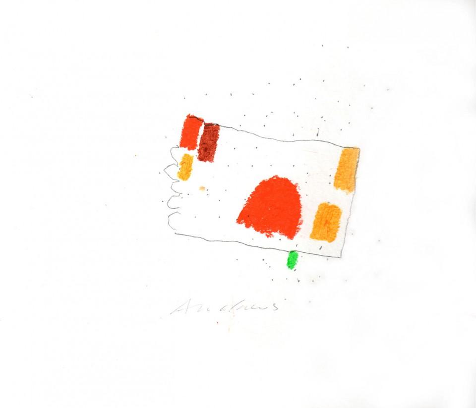 Jazz 20 - dibujos (2001) 20 x 20 cm. Serie JAZZ (Ceras y Lápiz sobre cartón)