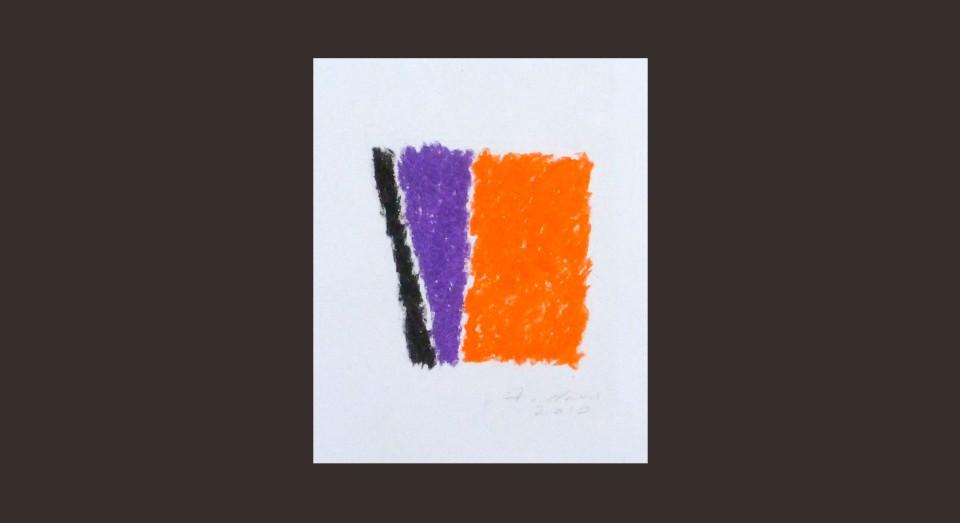 Forma y Color 12 (2010) Ceras sobre papel. Serie CERAS