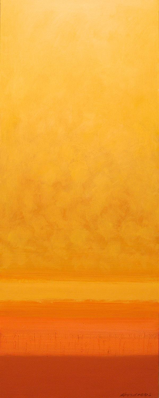 Cuadro 9 (2006) Acrílico sobre tela, (188 x 73 cm.) Serie INFINITIES