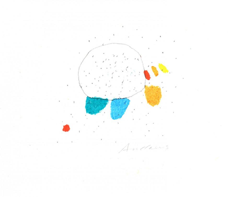 Jazz 10 - dibujos (2001) 20 x 20 cm. Serie JAZZ (Ceras y Lápiz sobre cartón)
