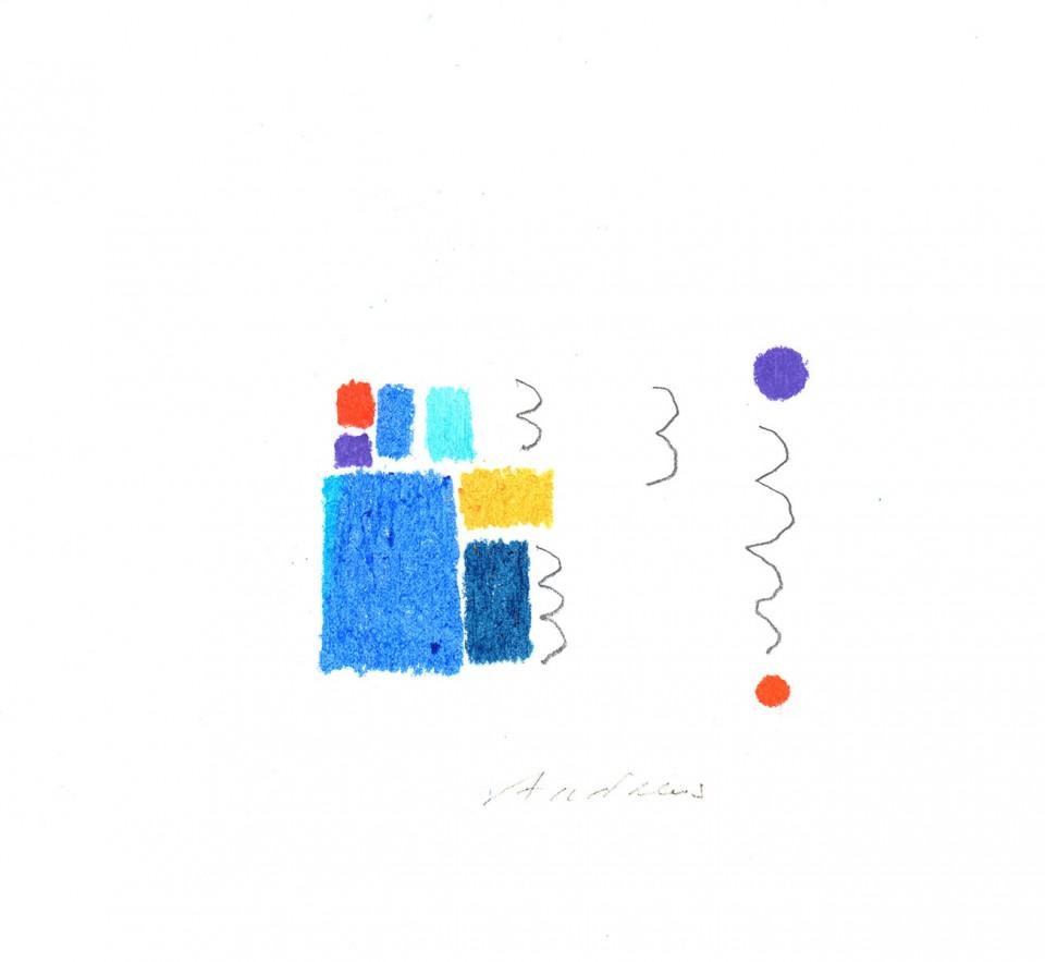 Jazz 11 - dibujos (2001) 20 x 20 cm. Serie JAZZ (Ceras y Lápiz sobre cartón)