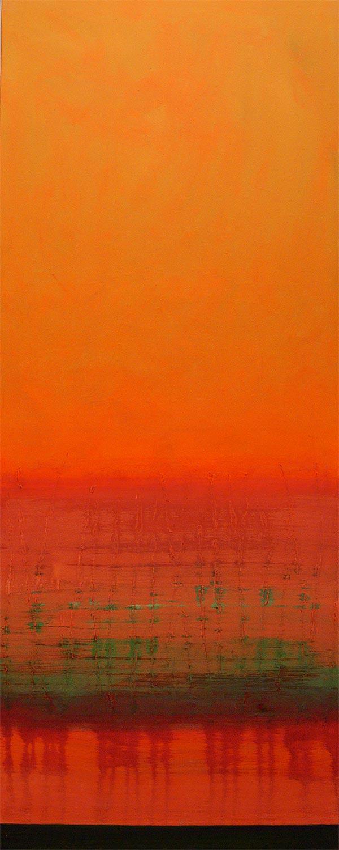 Cuadro 11 (2006) Acrílico sobre tela, (188 x 73 cm.) Serie INFINITIES
