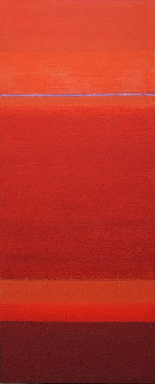 Cuadro 12 (2006) Acrílico sobre tela, (188 x 73 cm.) Serie INFINITIES