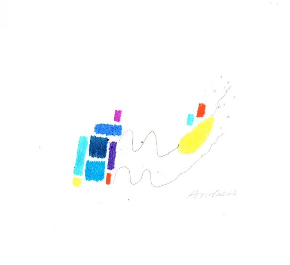 Jazz 13 - dibujos (2001) 20 x 20 cm. Serie JAZZ (Ceras y Lápiz sobre cartón)