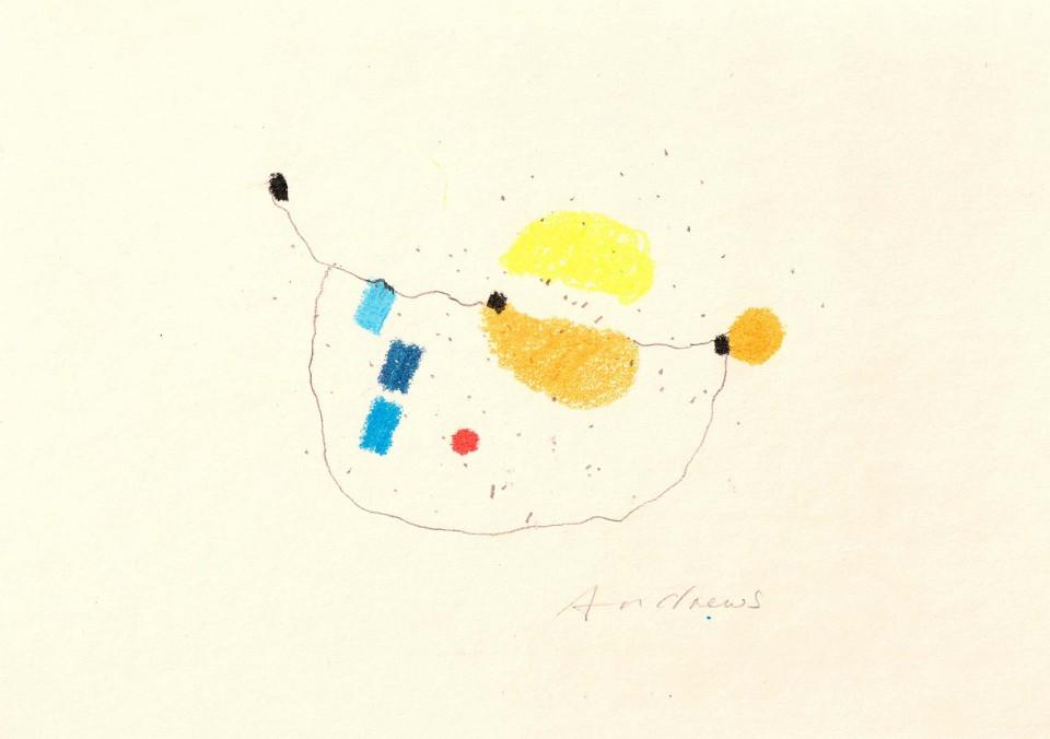 Jazz 18 - dibujos (2001) 20 x 20 cm. Serie JAZZ (Ceras y Lápiz sobre cartón)