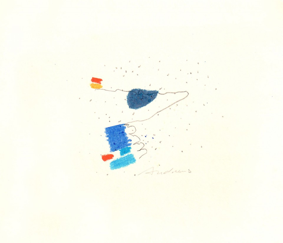 Jazz 19- dibujos (2001) 20 x 20 cm. Serie JAZZ (Ceras y Lápiz sobre cartón)