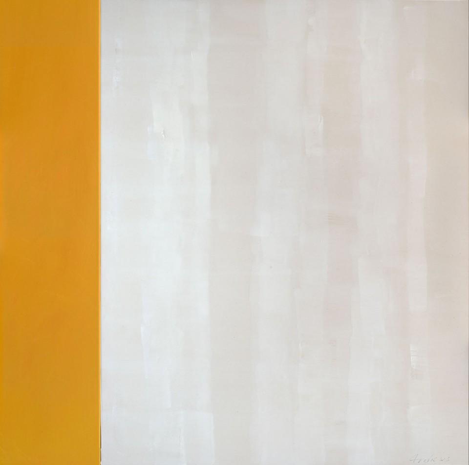 Cuadro 11 - 2005 Acrílico y carboncillo sobre tela y caseína, 146 x 141 cm. JARDÍN DE LOS FRAILES