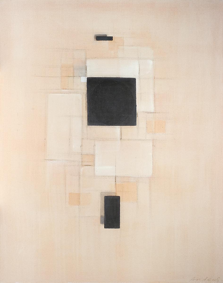 Cuadro 12 - 2005 Acrílico y carboncillo sobre tela y caseína, 146 x 114 cm. JARDÍN DE LOS FRAILES