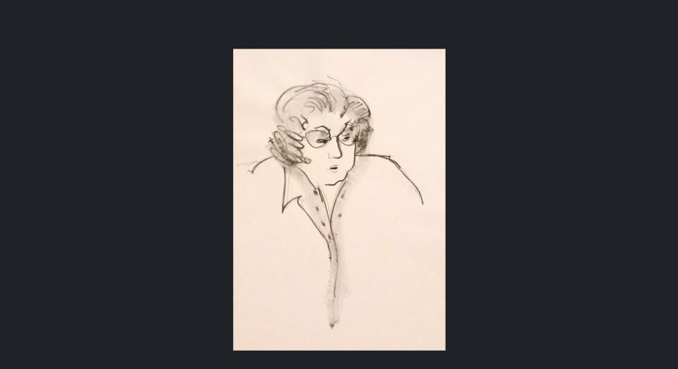 Mujer 2 - carboncillo sobre cartón (1980)