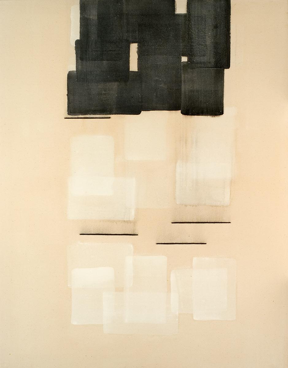 Cuadro 13 - 2005 Acrílico y carboncillo sobre tela y caseína, 146 x 114 cm. JARDÍN DE LOS FRAILES