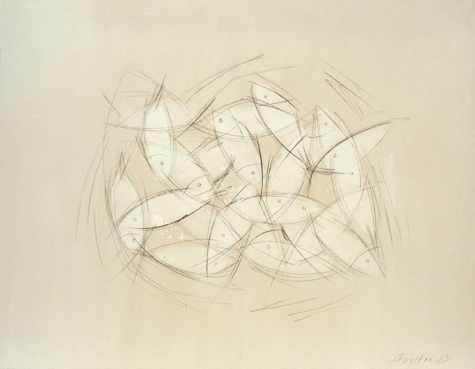 Cuadro 15 - 2005 Acrílico y carboncillo sobre tela y caseína, 146 x 114 cm. JARDÍN DE LOS FRAILES