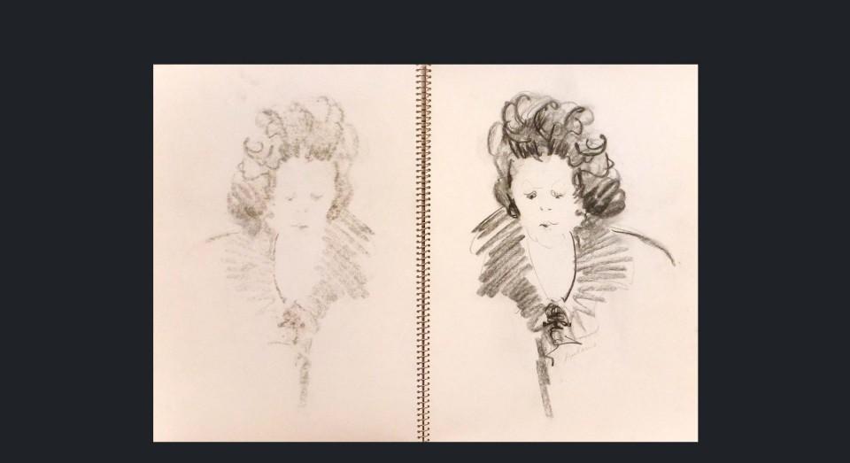 Mujer 3 - carboncillo sobre cartón (1980)