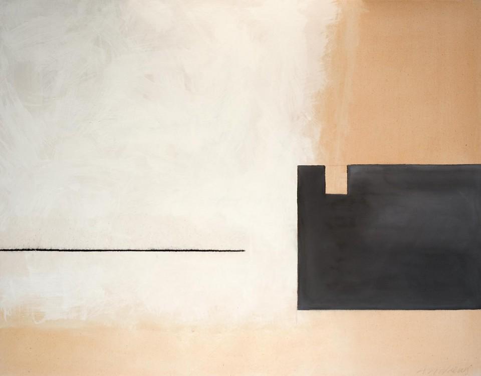 Cuadro 16 - 2005 Acrílico y carboncillo sobre tela y caseína, 146 x 114 cm. JARDÍN DE LOS FRAILES