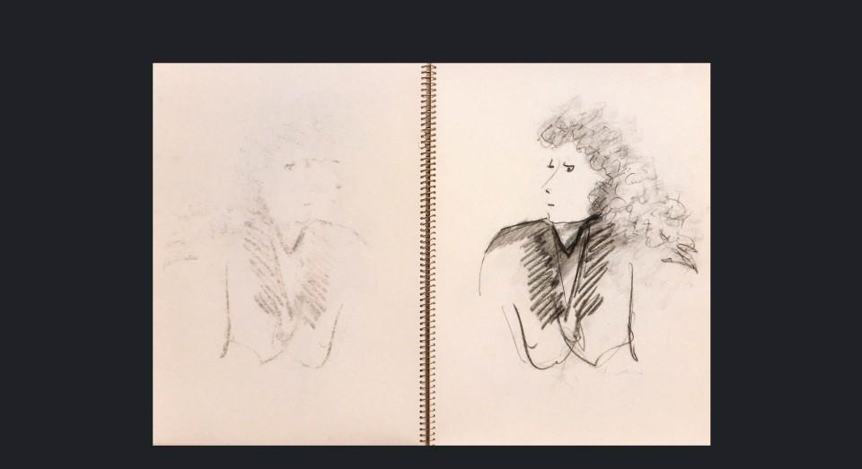 Mujer 4 - carboncillo sobre cartón (1980)