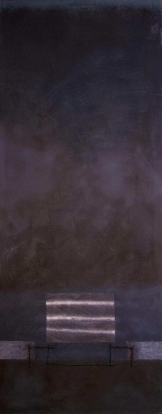 Cuadro 17 - 2005 Acrílico y carboncillo sobre tela y caseína. JARDÍN DE LOS FRAILES