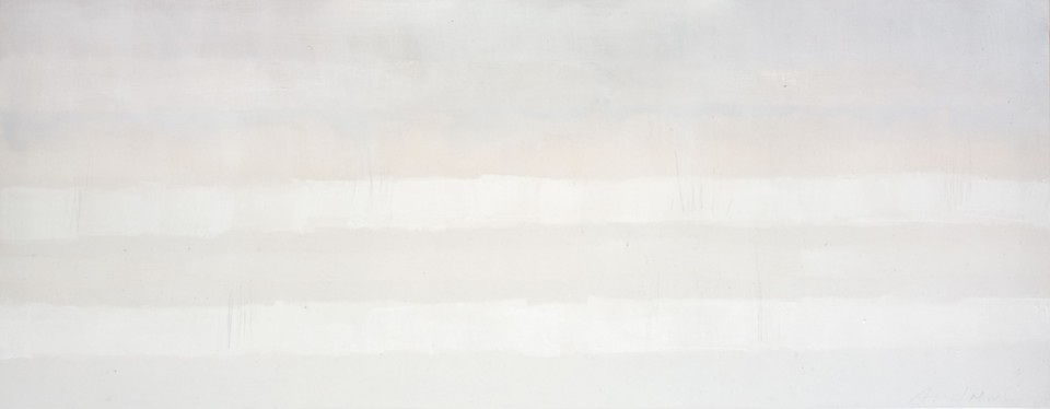 Cuadro 19 -2005 Acrílico y carboncillo sobre tela y caseína. JARDÍN DE LOS FRAILES
