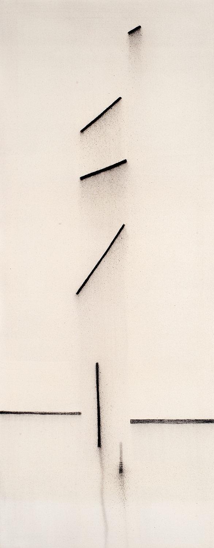 Cuadro 6 (2007) Acrílico y carboncillo sobre tela y caseína.