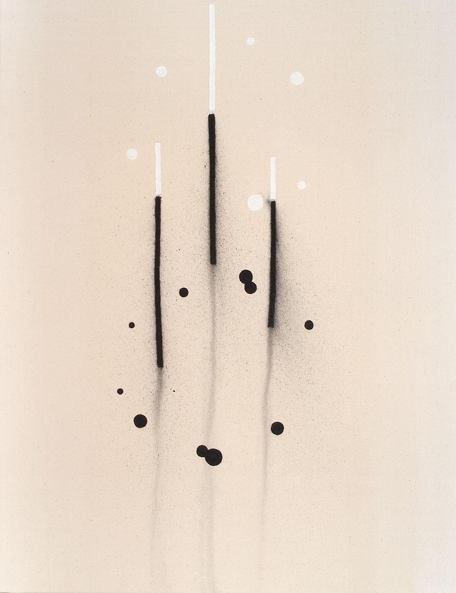 Cuadro 13 (2007) Acrílico y carboncillo sobre tela y caseína.