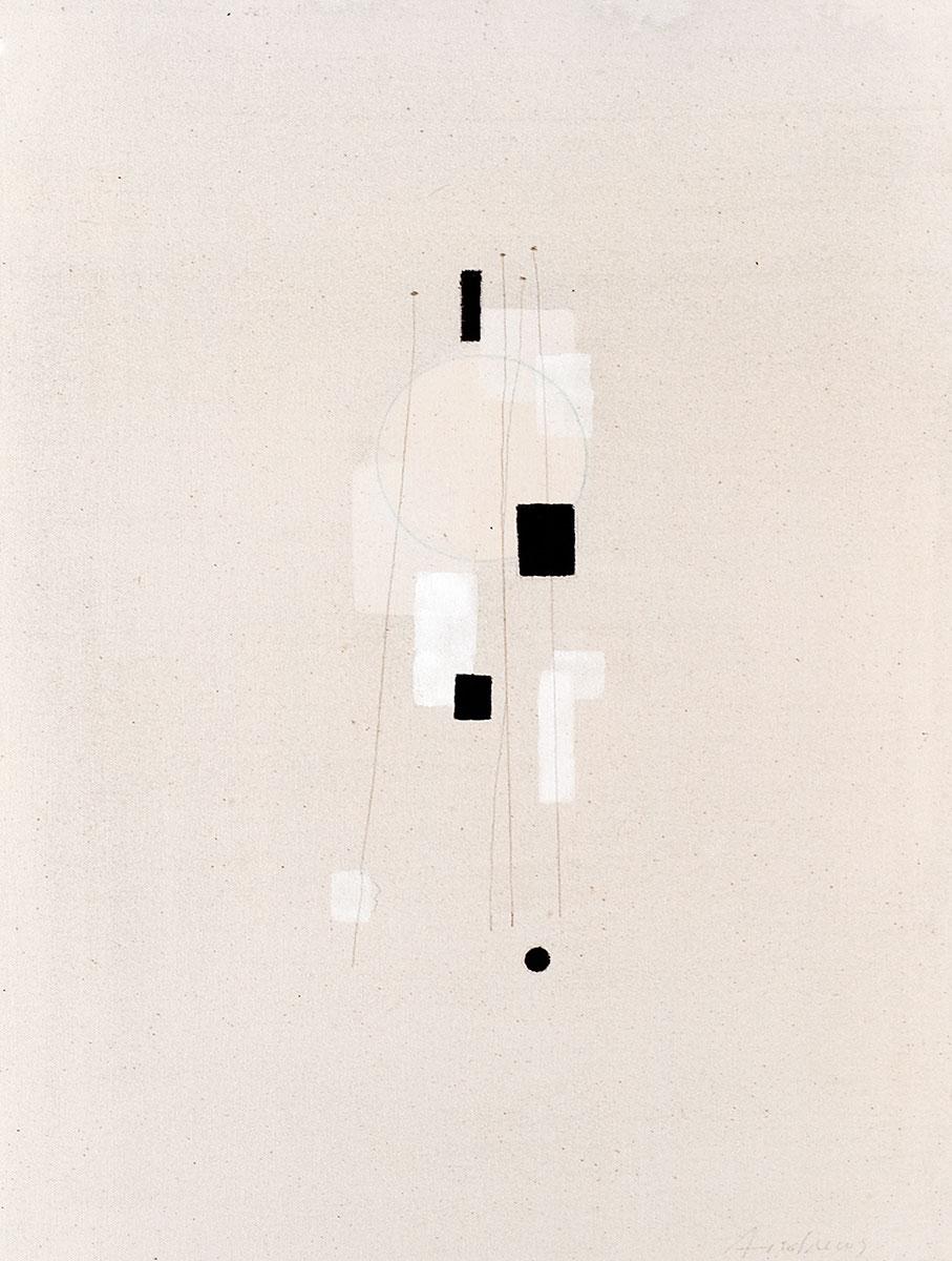 Cuadro 18 (2007) Acrílico y carboncillo sobre tela y caseína.
