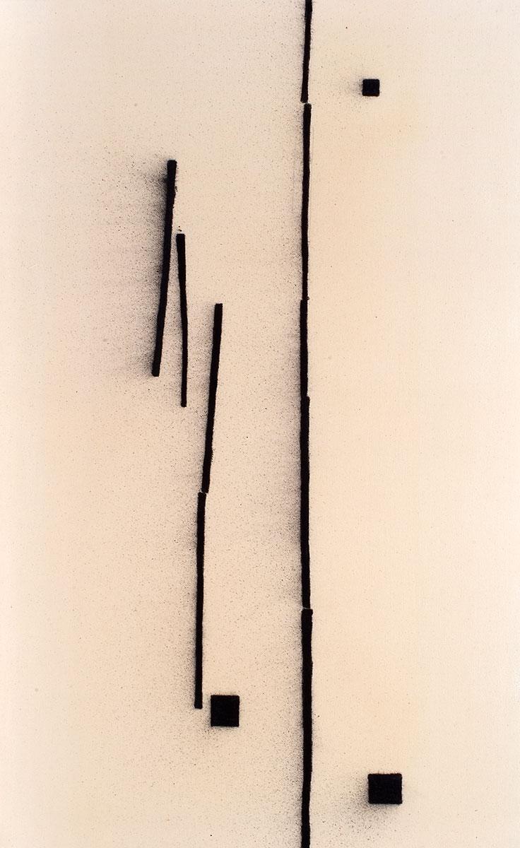Cuadro 7 (2007) Acrílico y carboncillo sobre tela y caseína.