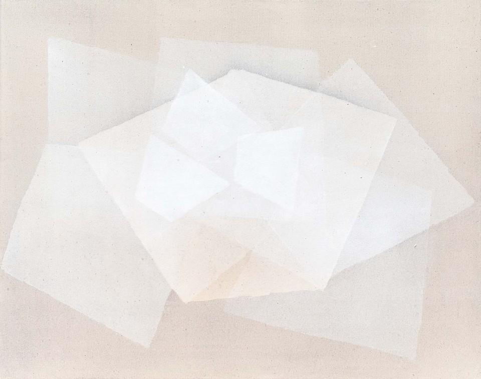 Cuadro 21 (2007) Acrílico y carboncillo sobre tela y caseína. 114 x 146 cm.