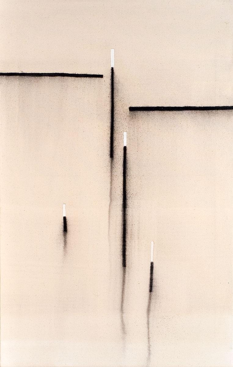 Cuadro 11 (2007) Acrílico y carboncillo sobre tela y caseína.
