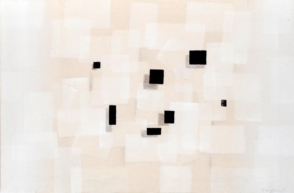 Cuadro 17 (2007) Acrílico y carboncillo sobre tela y caseína.